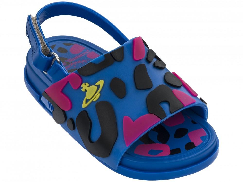 Mini Melissa Beach Slide Sandal II + Vivienne Westwood Anglomania -