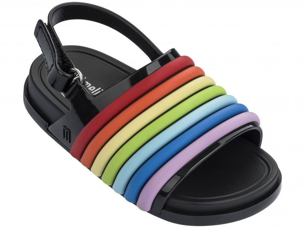 Mini Melissa Beach Slide Sandal Rainbow -