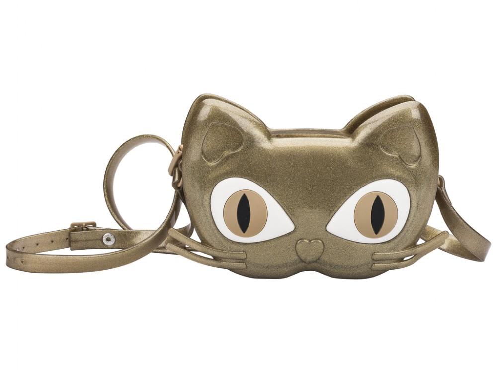 Mini Melissa Bag Cat  - dourado